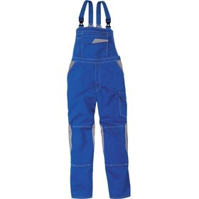 KÜBLER WORKWEAR - Berufslatzhose IMAGE DRESS NEW DESIGN 3347, kornblumenblau/mittelgrau, 54