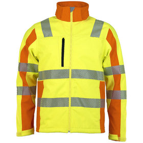 ASATEX® - Softshelljacke Prevent® Trendline PTW-DS, gelb/orange, M