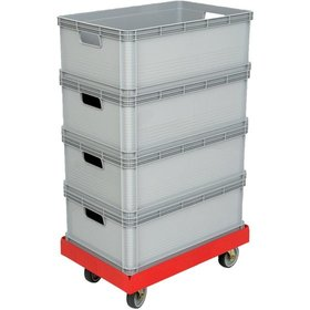 DURABLE - Transportroller 610x410mm grau, m. 4 LR.