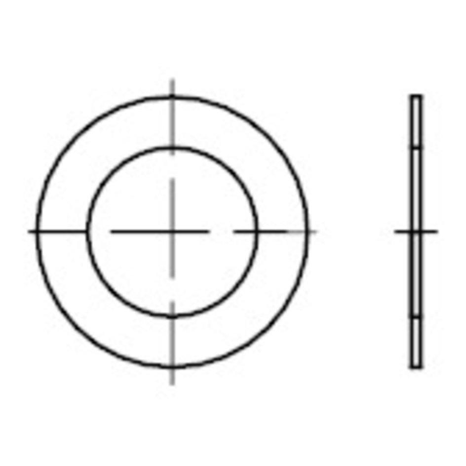 10x Passscheibe 8 x 14mm Dicke 0,1 bis 0,5 mm