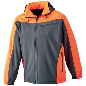 WATEX - Softshelljacke wintergef. S, grau/leucht