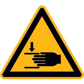 SafetyMarking® Warnschild Folie Handverletzung SL100mm