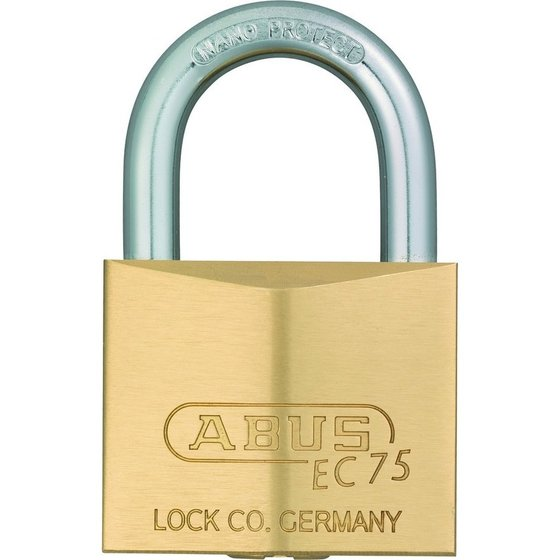ABUS AV-Zylindervorhangschloss 75/40, Messing massiv