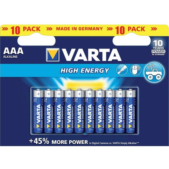 VARTA® Alkali High Energy AAA 10x Blister