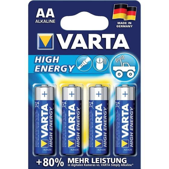 VARTA® Alkali High Energy AA 4x