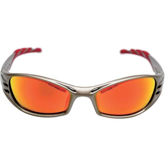 Schutzbrille bronze/rot