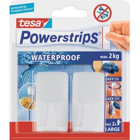 tesa® - Haken Wave, weiß Inh.2St.Powerstrips Waterproof