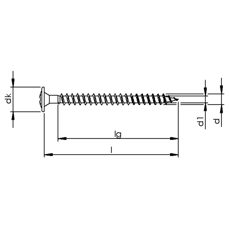 HECO-FIX-plus Rückwandschraube Stahl verzinkt blau Rückwandkopf PZ Vollgewinde