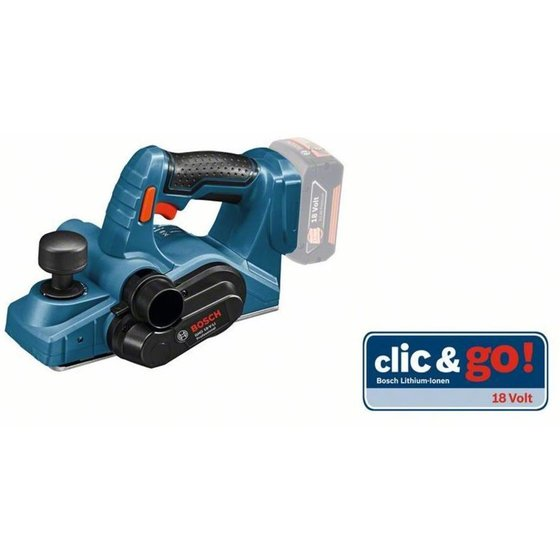 Bosch Akku-Hobel/Falzhobel GHO 18 V-LI, Solo-Version in L-BOXX