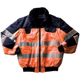 MASCOT® - Multifunktionsjacke Livigno, 80 % PES, 20 % CO, orange/blau, Größe XL