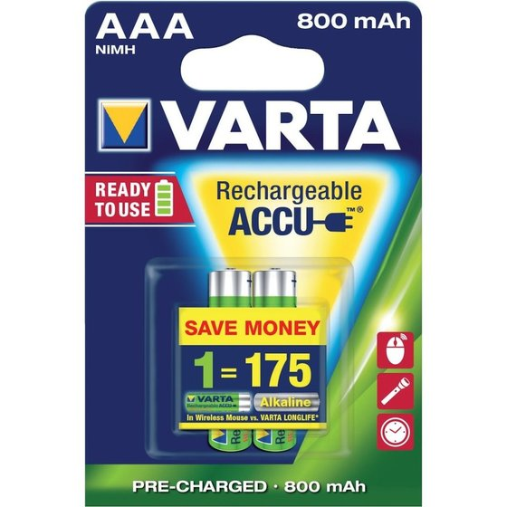 VARTA® - Rechargeable Power Accu Micro 2er Blister