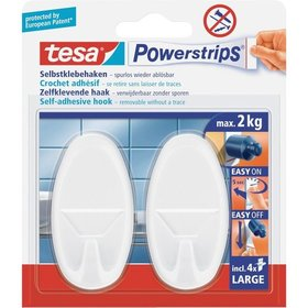 tesa® - Powerstrips Haken Large  Oval weiss