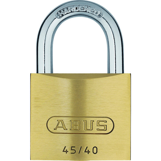 ABUS - AV-Zylindervorhangschloss 45/40 Quad-Pack SB, Messing massiv