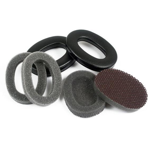 schwarz-graues Ersatz-Hygieneset für Kapselgehörschutz X3 von 3M™