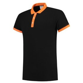 Tricorp - Poloshirt Bicolor Slim Fit 201002 Black-Orange Gr. XS