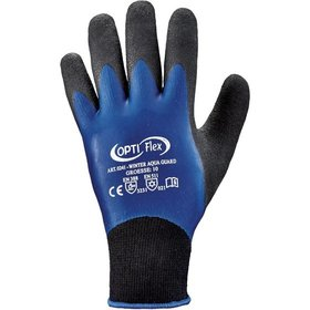 OPTI Flex® - Strickhandschuh Latex Winter-Aqua-Guard Größe 10