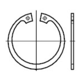 Reidl Sicherungsringe f/ür Bohrungen 22 x 1 mm DIN 472 Stahl blank 100 St/ück