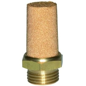 RIEGLER® - Schalldämpfer value line Sechskant Sinterbronze Messing G1/8Zoll Länge 22,8mm