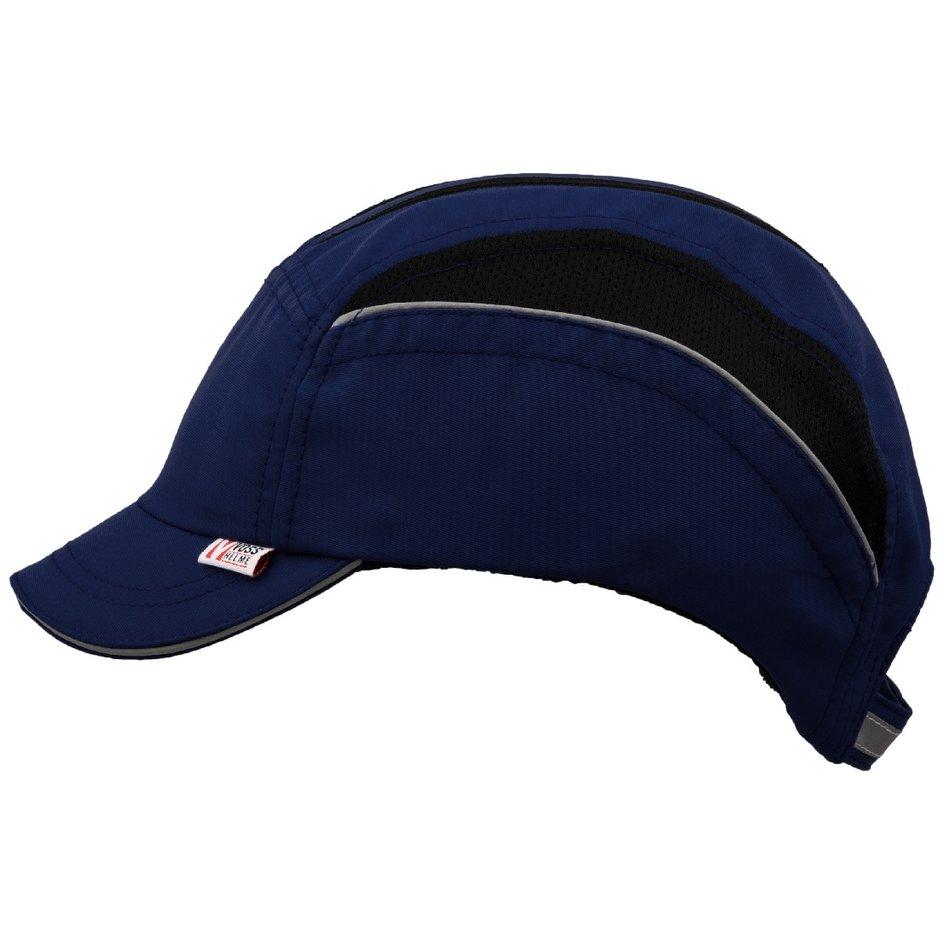 Anstoßkappe Helm als Basecap in der Farbe schwarz