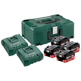 metabo® - Basis Set 4 x LiHD 8.0 Ah + ASC 145 Duo + Metaloc (685135000)