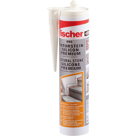 fischer® -  Natursteinsilicon DNS TPtransparent310 ml
