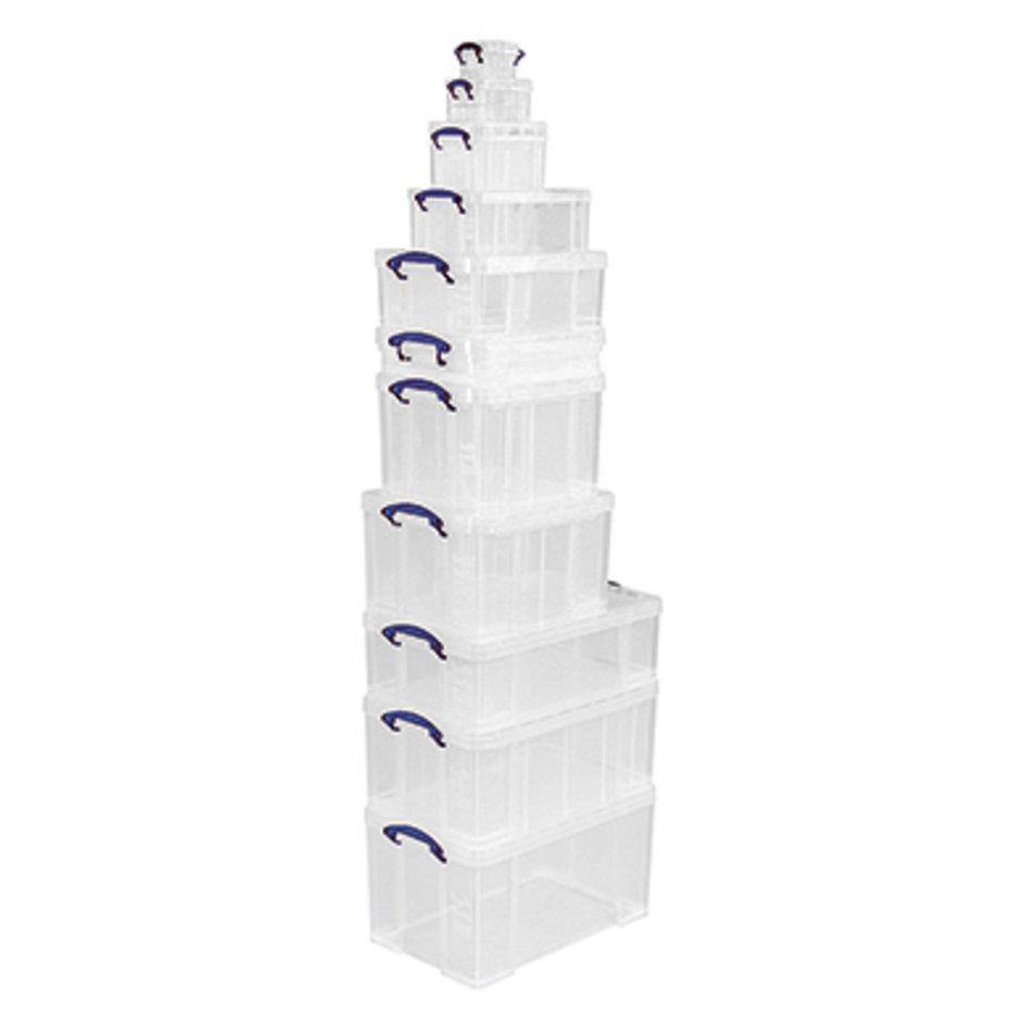 REALLY USEFUL BOX Aufbewahrungsbox 9C 39x15,5x24cm 9l transparent
