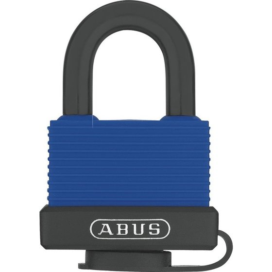 ABUS AV-Vorhangschloss, Aqua Safe 70IB/45, Messing massiv blau