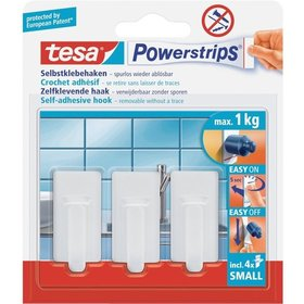 tesa® - Powerstrips Haken Small Oval weiss