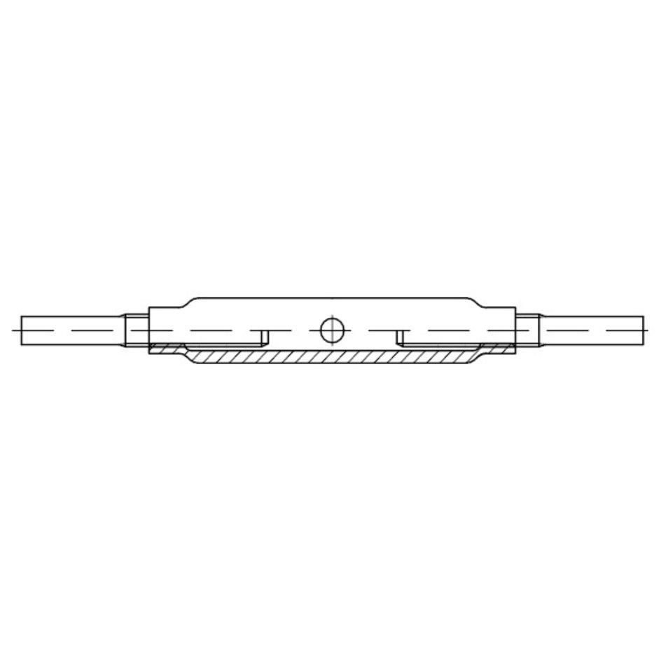 verzinkt /ÜZ SP M 6-10 Stk Spannschlossmutter geschlossene Form DIN 1478 Stahl galv