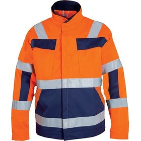 WATEX - Warnjacke MG Gr.M, leuchtorange/blau