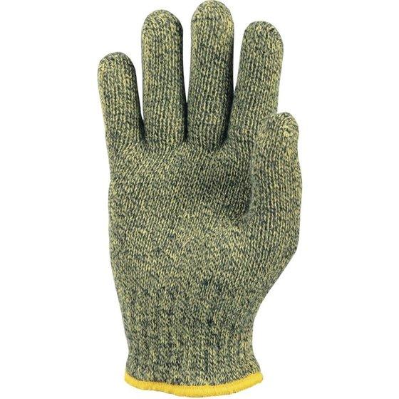 gelb-melierter Hitzeschutzhandschuh der Kategorie III