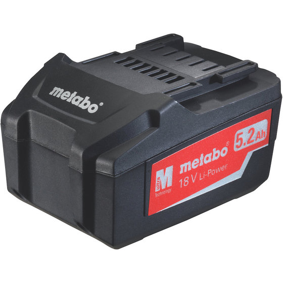 Metabo Akkupack 18 V, 5,2 Ah, Li-Power