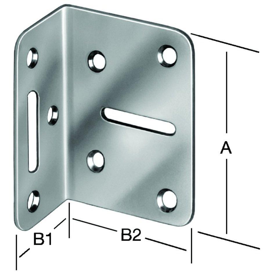 VORMANN 000171100Z Winkel Länge 100 x 50 mm Breite 40 mm Stärke 5 Stk 10er PACK