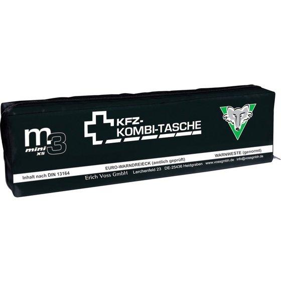 schwarze KFZ-Notfalltasche mit weißer Schrift