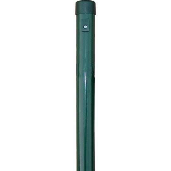 grüner Zaunpfahl verzinkt und pulverbeschichtet