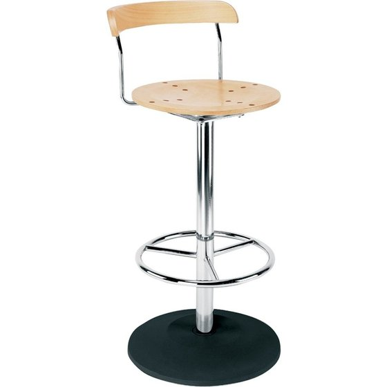 Hocker BISTRO H=960mm chrom/Buche