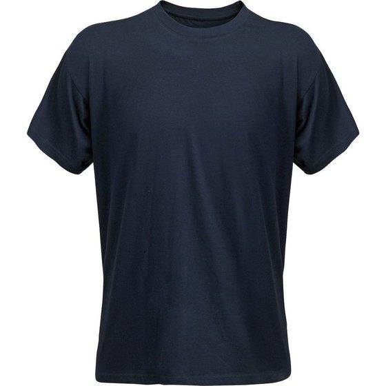 T-Shirt aus Baumwolle, dunkelblau