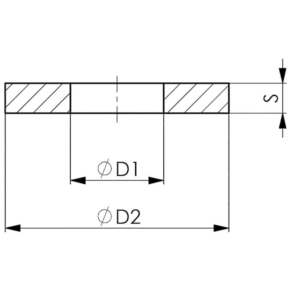 AMF Unterlegscheibe DIN6340 M24 AMF Scheibe Unterlegscheibe DIN Präzisionswerkze