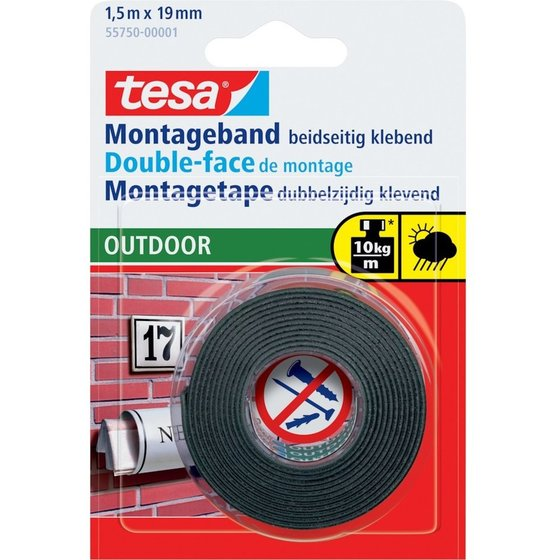 tesa® Montageband Outdoor 1,5m:19mm