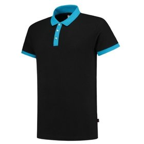 Tricorp - Poloshirt Bicolor Slim Fit 201002 Black-Turquoise Gr. 2XS
