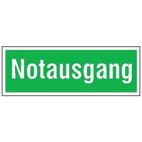 SafetyMarking® - Schild Folie 105x297 mm Notausgang