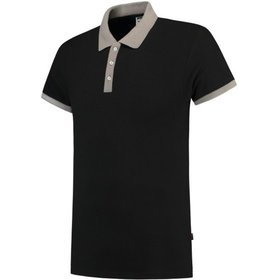 Tricorp - Poloshirt Bicolor Slim Fit 201002 Black-Grey Gr. XS