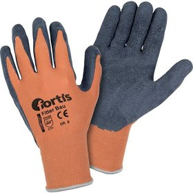 FORTIS - Handschuh Fitter Bau, orange/anthrazitgrau, 10