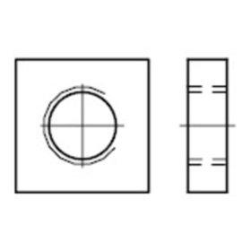 Vierkantmuttern DIN 562 04 Stahl blank niedrige Form