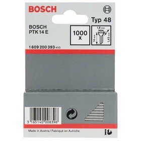 Bosch - Tackernagel Typ 48, 1,8 x 1,45 x 14 mm, 1000er-Pack