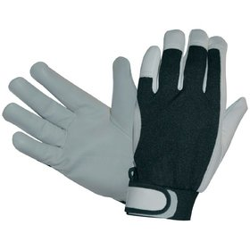 Hase Safety Gloves - Mechanischer Lederhandschuh Power Grip II, Kat. II, grau, 10