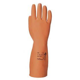 KCL - Haushaltshandschuh Ideal 752+, Kat. I, Naturlatex (NR), orange, 9