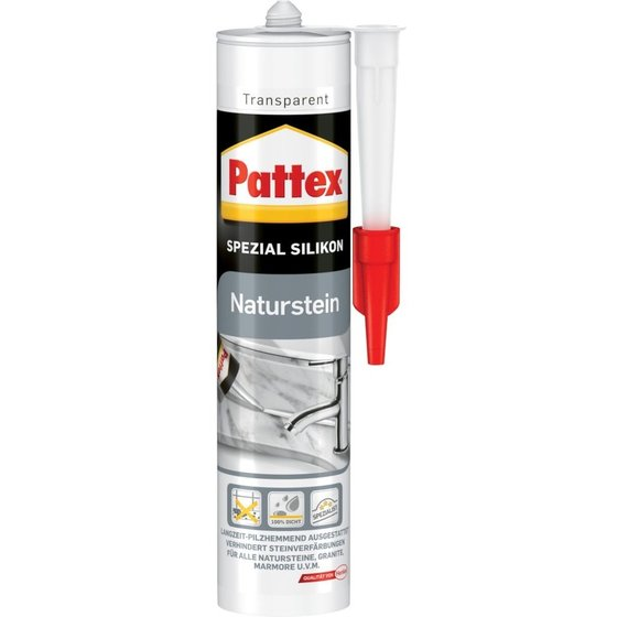 Pattex® Naturstein Silikon300 ml, transparent