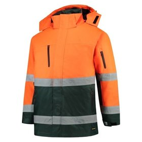 Tricorp - Parka EN ISO 20471 Bicolor 403004 Fluor Orange-Green Gr. 2XL